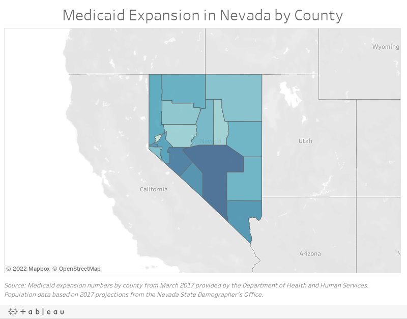 Medicaid Expansion States Map 2017.A Brief History Of Medicaid In Nevada And The People Who Depend On