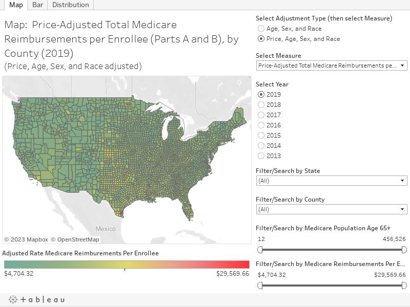 Medicare Reimbursements Dartmouth Atlas Of Health Care