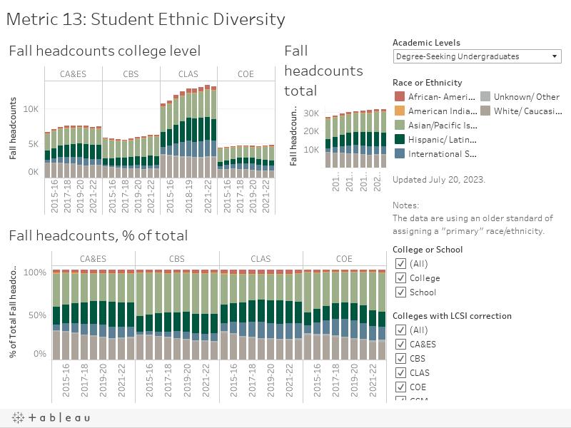 Metric 13: Student Ethnic Diversity