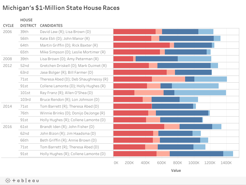 Michigan's $1-Million State House Races
