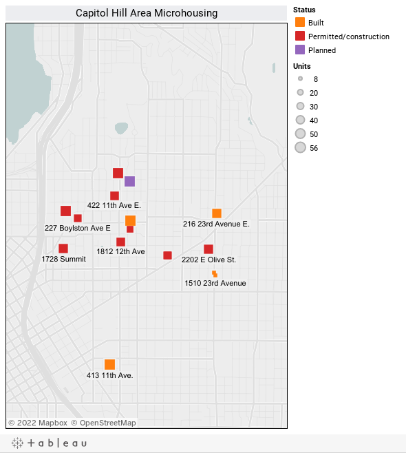 Capitol Hill Area Microhousing -- Fall 2012