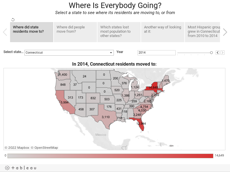 Where Is Everybody Going?Select a state to see where its residents are moving to, or from
