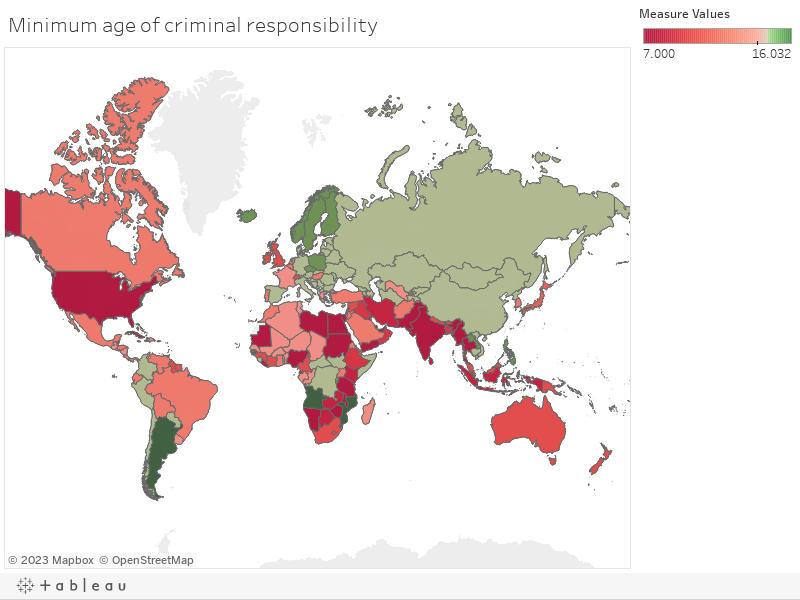 Minimum age of criminal responsibility