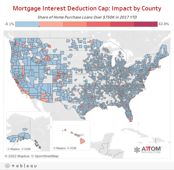 Mortgage Interest Deduction Cap: Impact by County