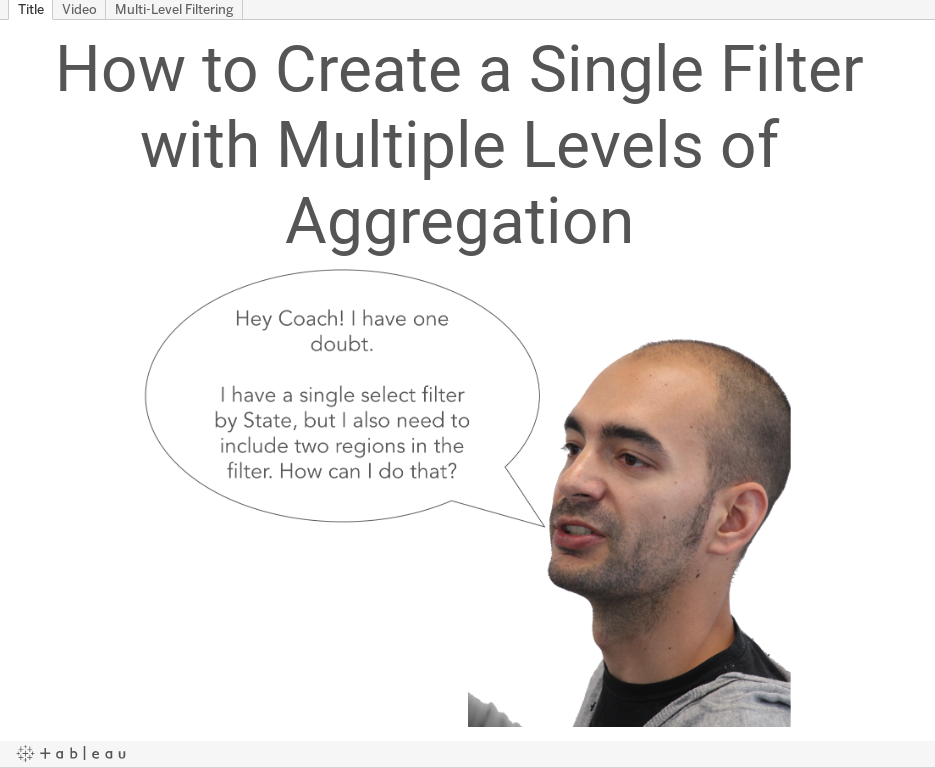 Tableau tip tuesday how to create a single filter with multiple