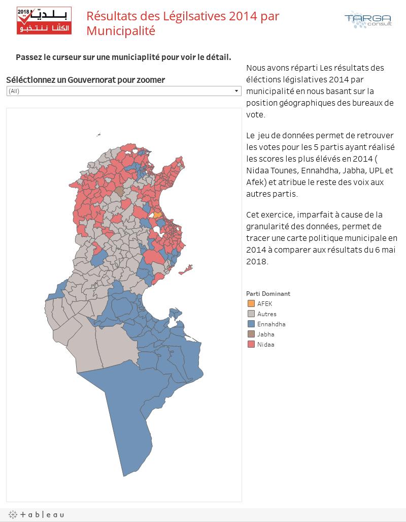Résultats des Légilsatives 2014 par Municipalité