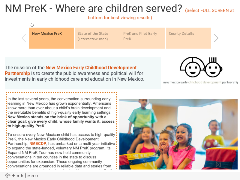 NM PreK - Where are children served? (Select FULL SCREEN at bottom for best viewing results)