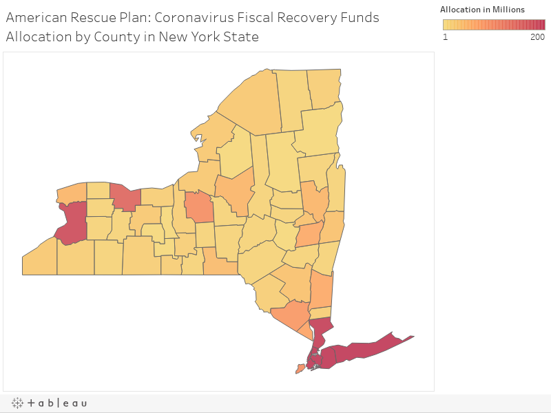 American Rescue Plan: Coronavirus Fiscal Recovery Funds Allocation by County in New York State