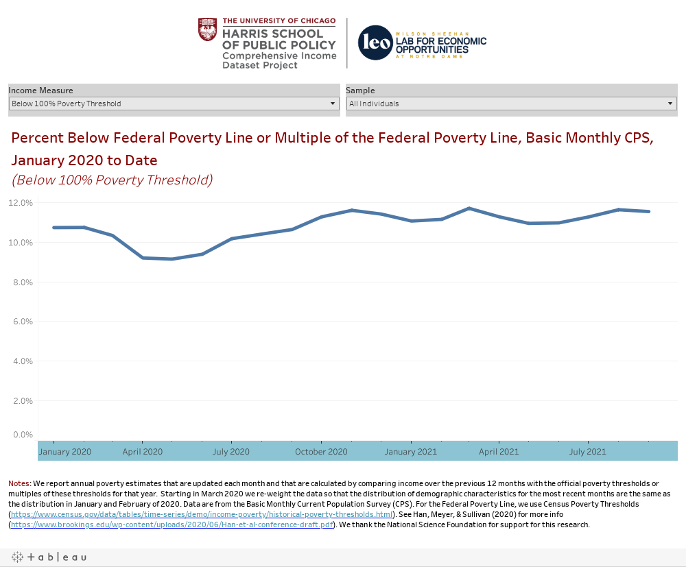 Near Real Time COVID-19 Income and Poverty Dashboard