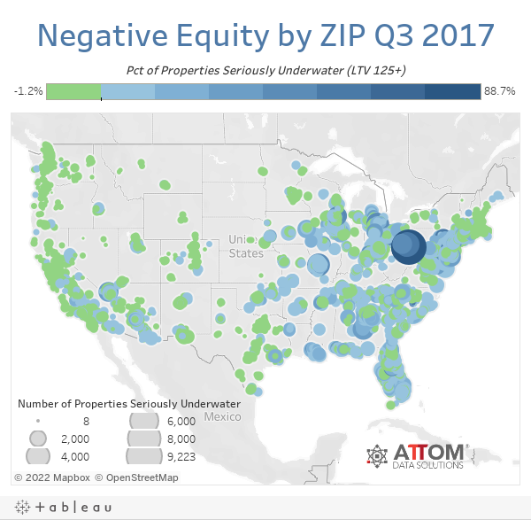 Negative Equity by ZIP Q3 2017