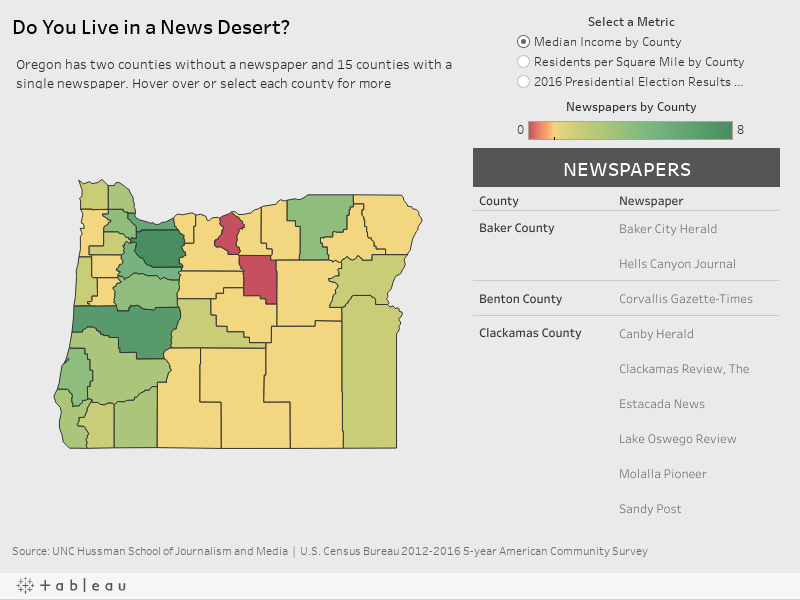 Do You Live in a News Desert?