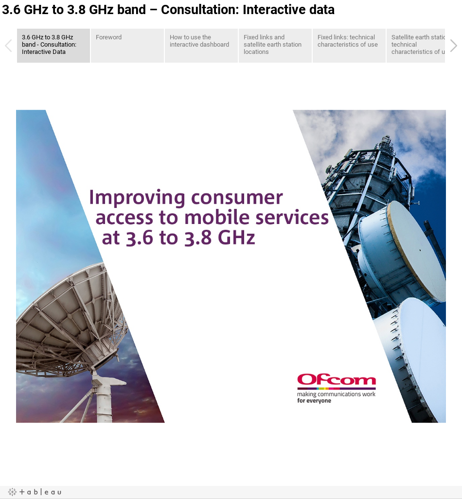 3.6 GHz to 3.8 GHz band – Consultation: Interactive data