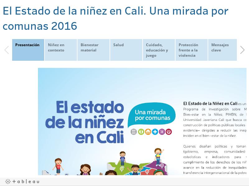 El Estado de la niñez en Cali. Una mirada por comunas 2016
