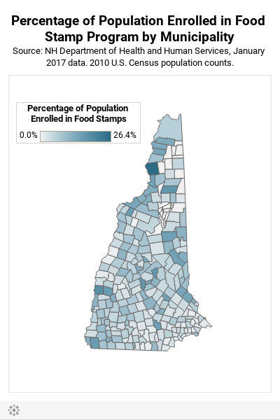Food Stamp Percentage Map