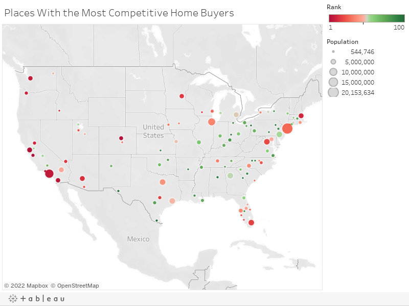 Places With the Most Competitive Home Buyers
