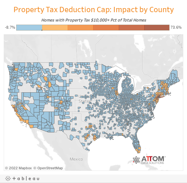 Property Tax Deduction Cap: Impact by County