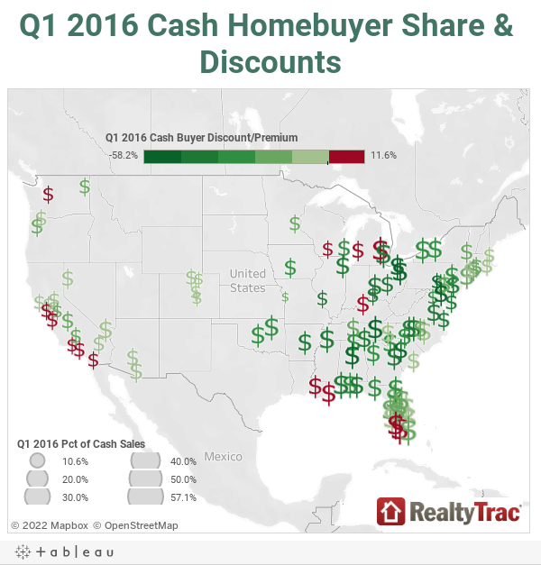 Q1 2016 Cash Homebuyer Share & Discounts