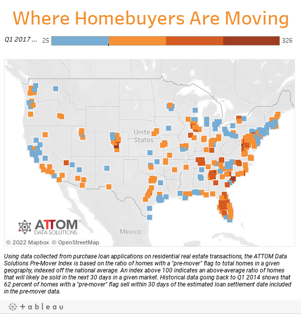 Where Homebuyers Are Moving