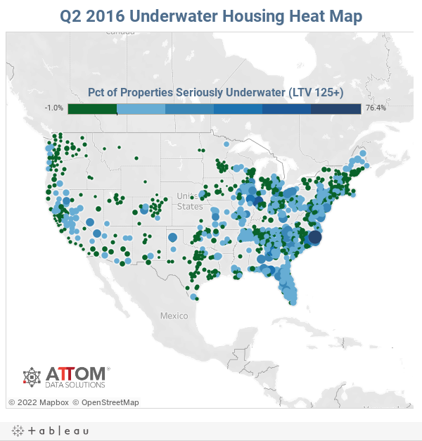 Q2 2016 Underwater Housing Heat Map