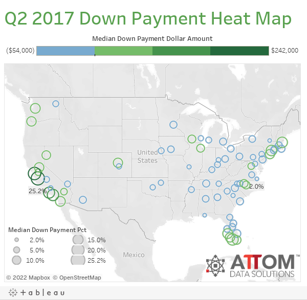 Q2 2017 Down Payment Heat Map