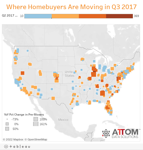 Where Homebuyers Are Moving in Q3 2017