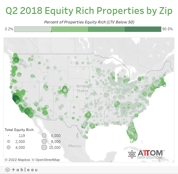 Q2 2018 Equity Rich Properties by Zip