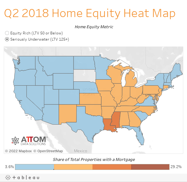 Q2 2018 Home Equity Heat Map