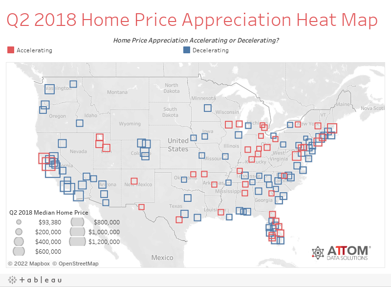 Q2 2018 Home Price Appreciation Heat Map
