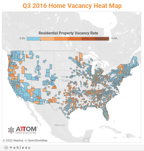 Q3 2016 Home Vacancy Heat Map
