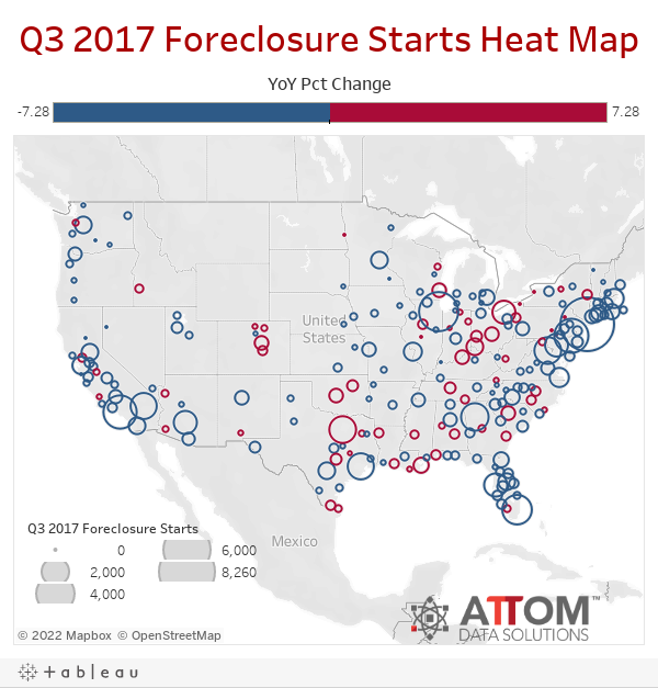 Q3 2017 Foreclosure Starts Heat Map