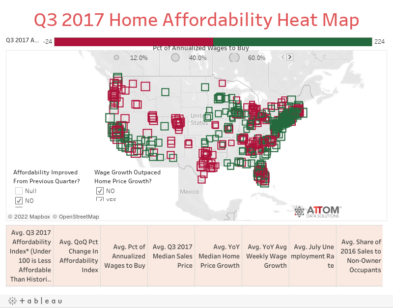 Q3 2017 Home Affordability Heat Map