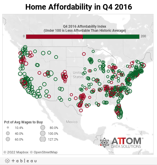 Home Affordability in Q4 2016