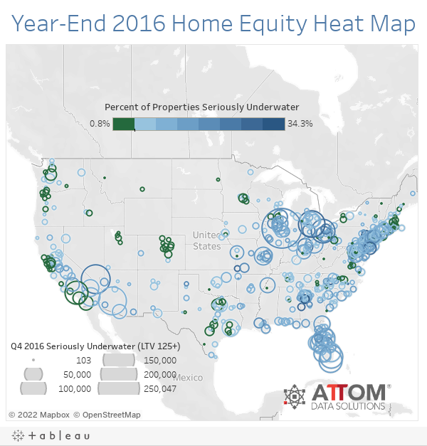 Year-End 2016 Home Equity Heat Map