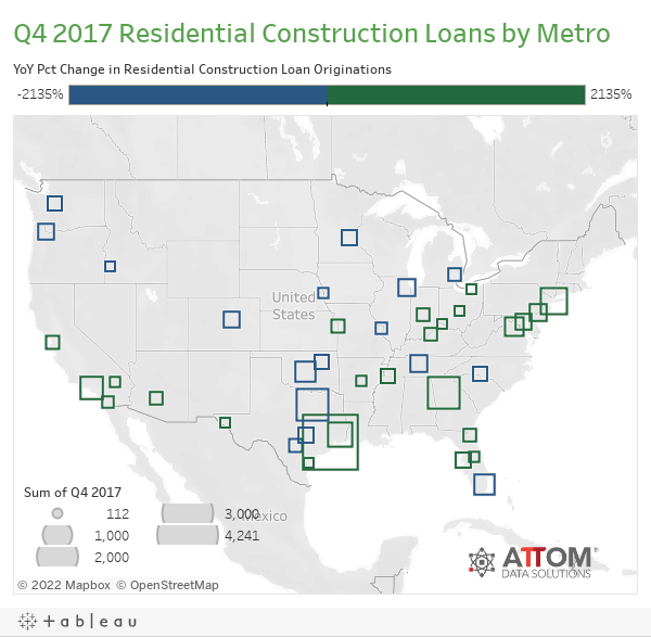 Q4 2017 Residential Construction Loans by Metro