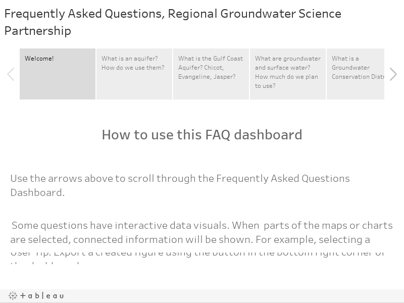 Frequently Asked Questions, Regional Groundwater Science Partnership