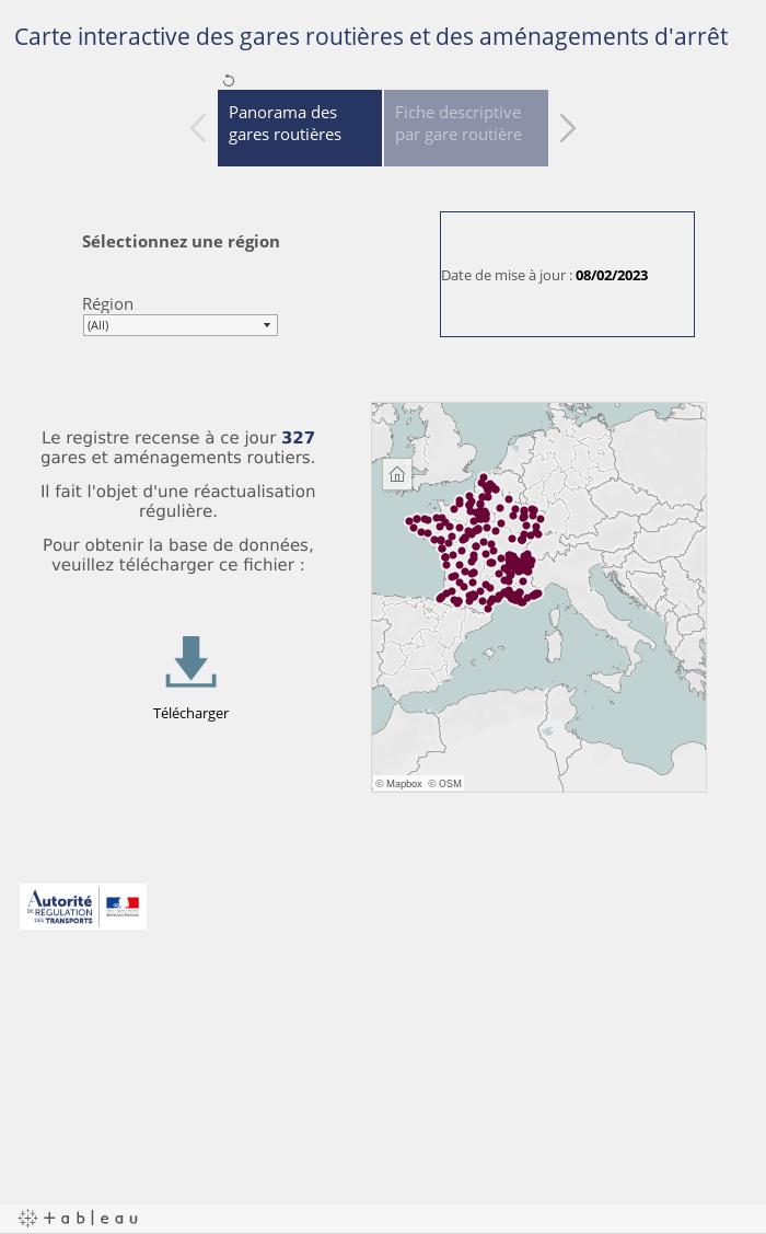 Carte interactive des gares routières et des aménagements d