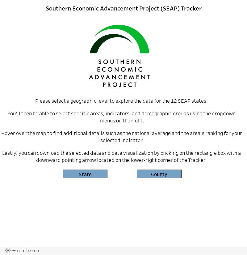 Southern Economic Advancement Project (SEAP) Tracker