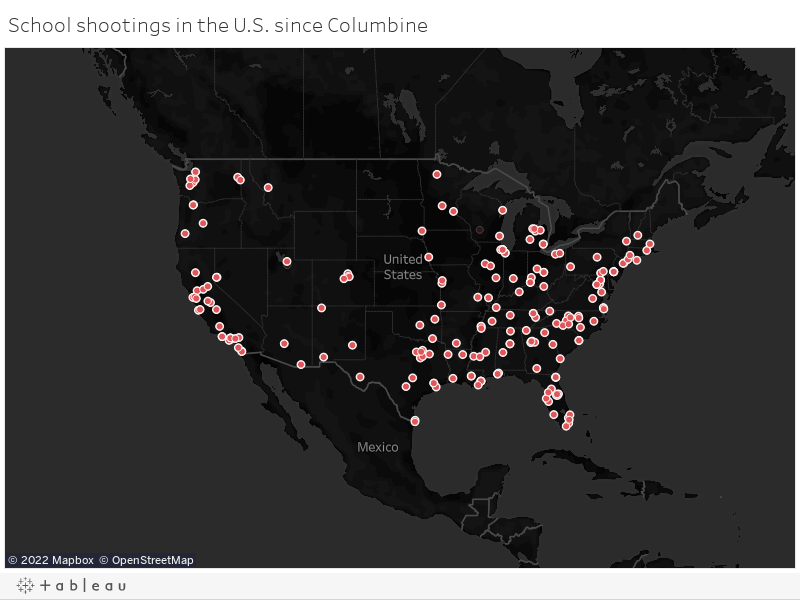 School shootings in the U.S. since Columbine