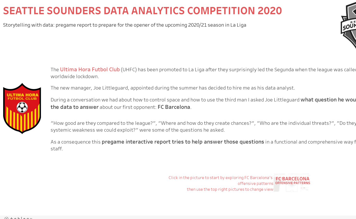 Seattle Sounders data analytics competition: Ultima Hora FC
