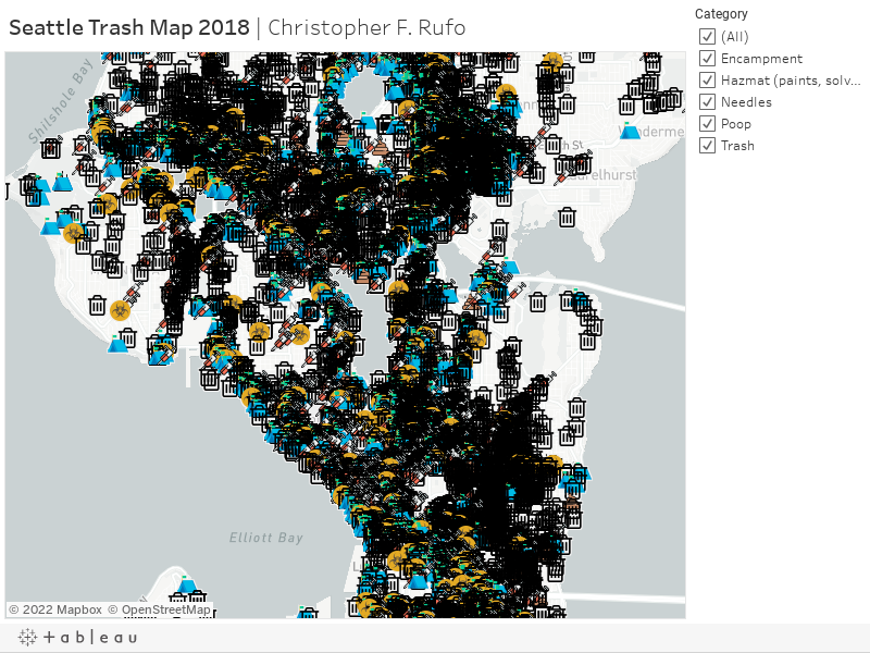 Seattle Trash Map 2018 | Christopher F. Rufo