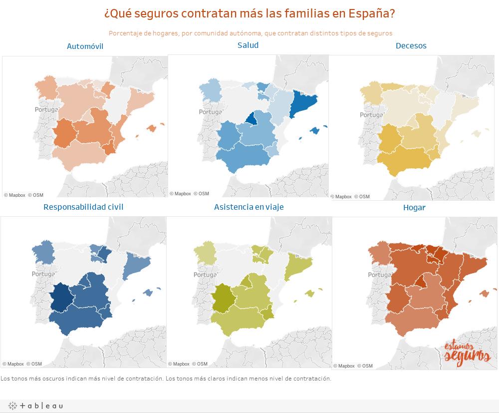 ¿Qué seguros contratan más las familias en España?