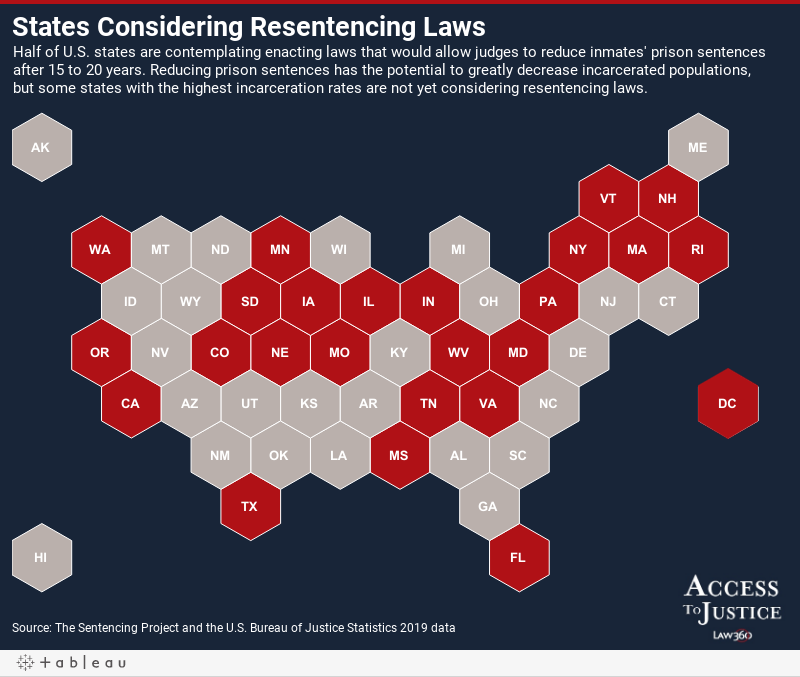 States Considering Resentencing Laws
