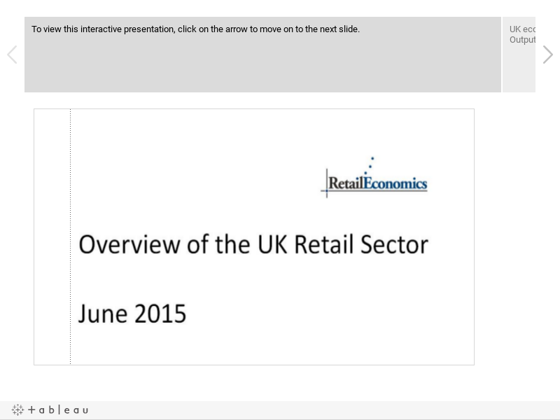 Overview of the Retail Sector - June 2015