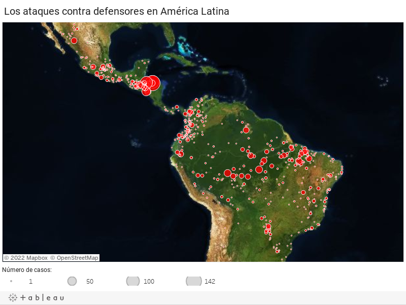 Los ataques contra defensores en América Latina