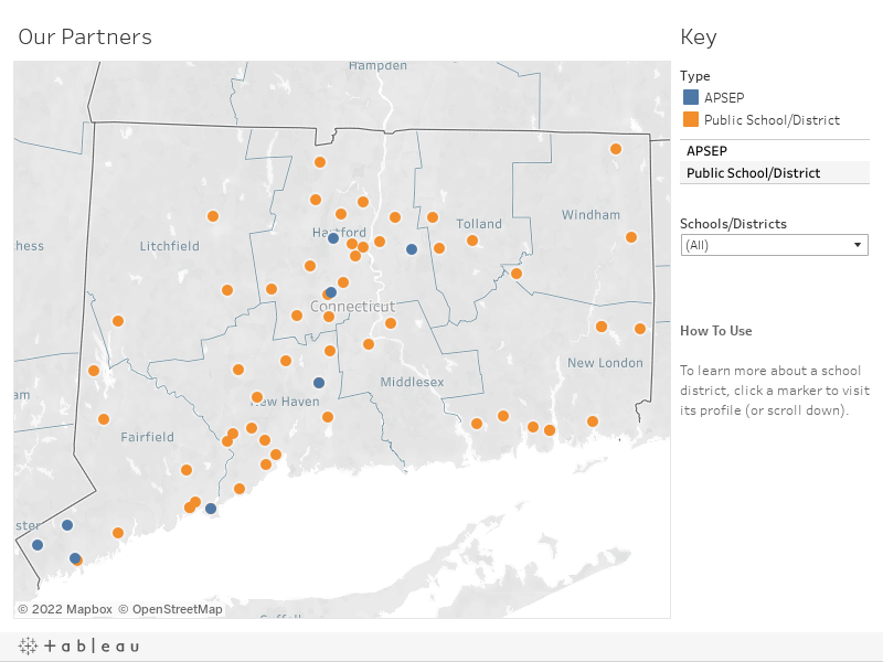 TEACH Connecticut Districts