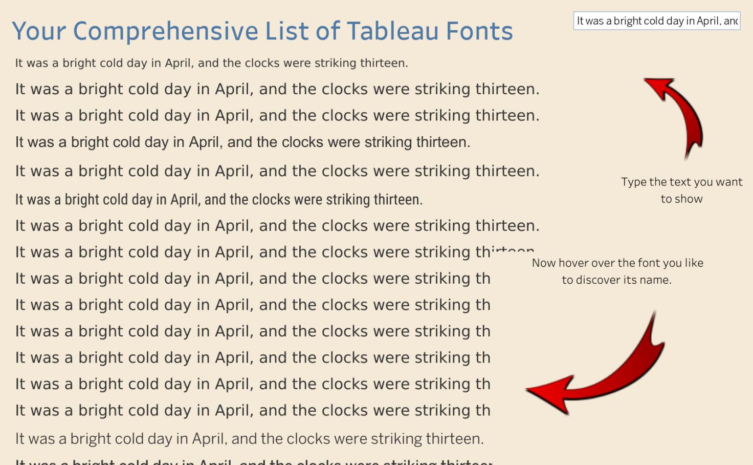 Tableau Fonts - Dan Harrison | Tableau Public