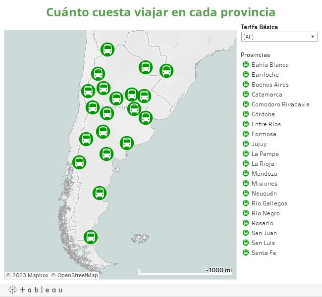 Cuánto cuesta viajar en cada provincia
