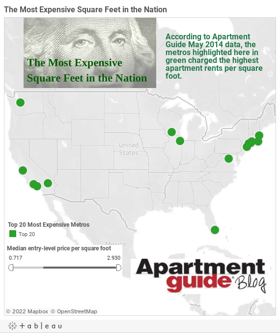 most expensive square feet in the nation may 2014 | apartmentguide