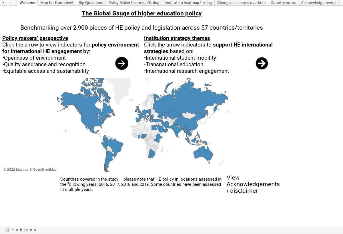 Global Gauge of HE policy | British Council
