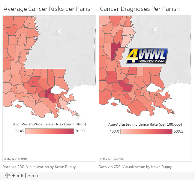 alley louisiana map Toxic Truth Cancer Alley Myth Or Reality Wwltv Com alley louisiana map